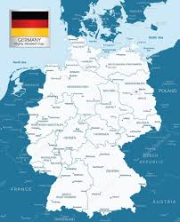 Detailed Map Of Germany by Highly Detailed Map Of Germany With Administrative Divisions And