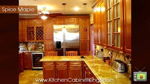 Maple Kitchen Cabinets Spice Maple Kitchen Cabinets By Kitchen Cabinet Kings Youtube