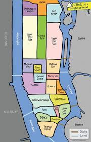 Map New York City by Nyc Manhattan Neighborhood Map