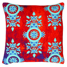 Home Decor Online Stores India by Charming Flower Motif Cushion Cover From The Exclusive Home Decor