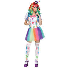 buy crazy color clown costume