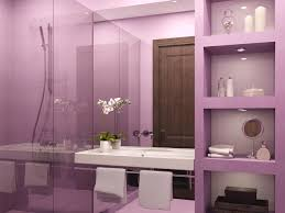 dark purple bathroom ideas toilet near white lacquer pedestal sink