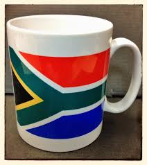 south african flag ceramic coffee mug your sa shop in the uk