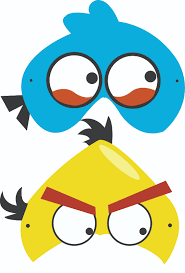 angry birds free printable masks luca u0027s party
