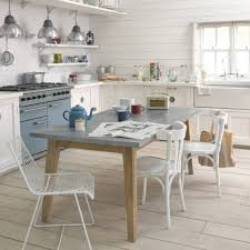 Love Zinc Covered Tables  Counter Tops Zinc Kitchen Table From - Table in kitchen
