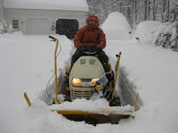 cub cadet tractor mounted snow thrower operating youtube