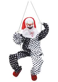 morphsuit spirit halloween leg kicking clown on swing