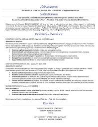 Summary Sample Resume by Administrative Assistant Sample Resume Career Summary