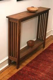 hand made walnut hall table by fredric blum design custommade com