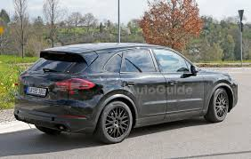 Porsche Cayenne Black - 2018 porsche cayenne spied inside and out with cleaner look