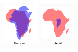 Peters Projection World Map by The Actual Size Of Greenland Mental Floss