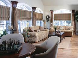 architecture modern living room design with palladian window and