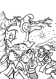 winnie the pooh coloring pages stuck in the tree cartoon