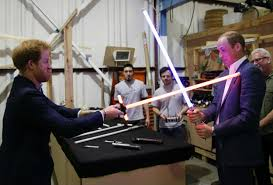 prince william and prince harry visit star wars set at pinewood