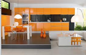 kitchen modern creative kitchen design with orange kitchen