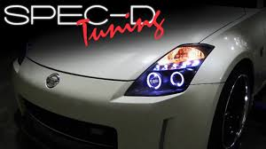 Nissan 350z Horsepower 2003 - specdtuning installation video 2003 2005 nissan 350z projector