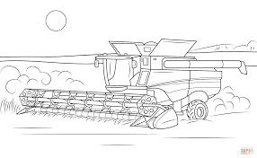 john deere combine coloring page free printable coloring pages