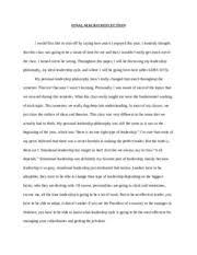 Essay on Leadership in Gladiator   LEADERSHIP ESSAY ON GLADIATOR     Course Hero