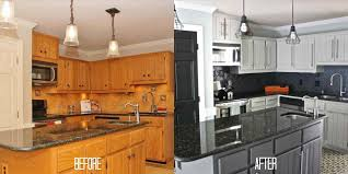 painted black painted kitchen cabinets before and after kitchen