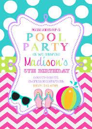 Birthday Invitation Cards Models Birthday Pool Party Invitations Themesflip Com