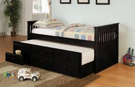 bedroom charming wooden trundle beds plus drawers for bedroom