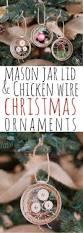 mason jar lid u0026 chicken wire christmas ornaments
