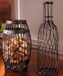 home bar decor ideas cute cat wine cork holder cork cage metal material brown finish