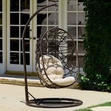 beachcrest home adelia egg shaped outdoor swing chair with stand