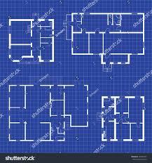 set floor plans blueprints vector unfurnished stock vector