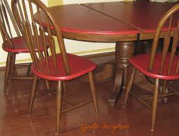 red painted kitchen tables