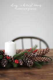 5 minute diy christmas centerpiece with pinecones u0026 berries