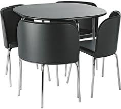 Buy Hygena Amparo Dining Table   Chairs Black At Argoscouk - Black dining table for 4