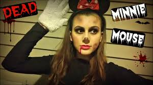 dead makeup halloween dead minnie mouse my halloween costume youtube