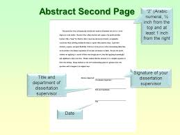 level   dissertation Dissertations Using APA Style M U M  Guidelines Prepared by Abstract Second Page Signature of your dissertation supervisor Title and department of