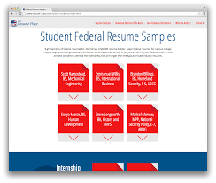 Sample Federal Government Resume by Introducing The Student Federal Resume Sample Database The