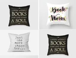 book related cushions gift for book lover id625 home decor gifts