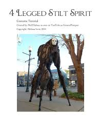 4 legged stilt spirit halloween costume tutorial as seen on