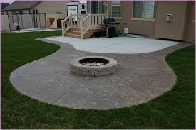 fire pit inspired best concrete patio designs with fire pit