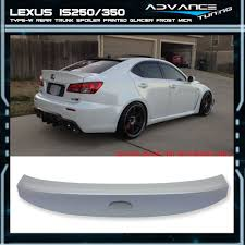 lexus is 250 for sale in cambodia 06 13 lexus is250 350 ik style trunk spoiler wing painted glacier
