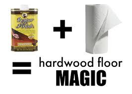 Hardwood Floor Restore Fix Scratched Hardwood Floors In About Five Minutes The
