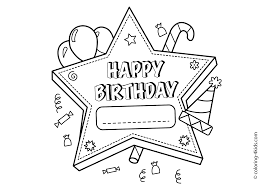 happy birthday printable star u2013 coloring pages for kids coloring