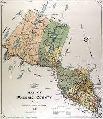 Map Nj Historical Passaic County New Jersey Maps