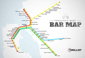 San Francisco Cable Car Map by The First Ever Bart Bar Map Bay Area San Francisco And Bar