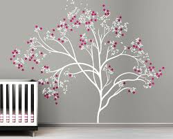 Tree Decal For Nursery Wall by 21 Large Tree Decals For Walls Flowers And Trees Wall Decals Home