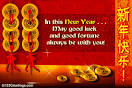 Good Wishes On Chinese New Year. Free Good Luck Symbols.