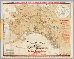 Street Map San Francisco by Map Showing Routes From San Francisco To Alaska And The Klondike