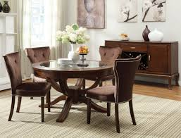 Round Dining Table Sets For 6 Round Kitchen Table With 6 Chairsawesome Brown Round Dining Room