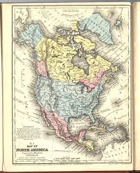 N America Map by 1858 North America From Mitchell Atlas Scanned Maps