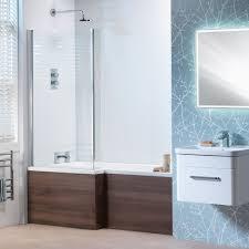 genesis vermont u0027l u0027 shaped shower bath vermont screen u0026 wooden