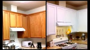paint cabinets white for less than 120 diy paint cabinets youtube